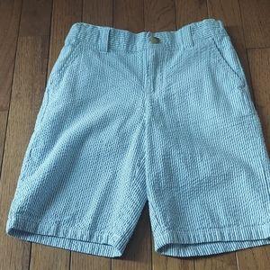 Janie and Jack seersucker shorts boys 7